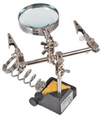 DURATOOL D03285  Third Hand With Magnifying Glass